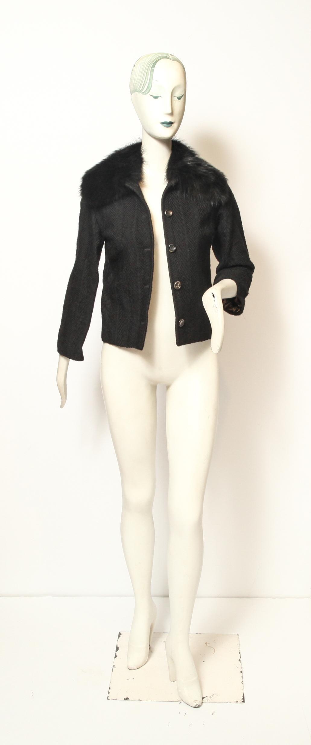 Dolce & Gabbana Wool & Fur Jacket