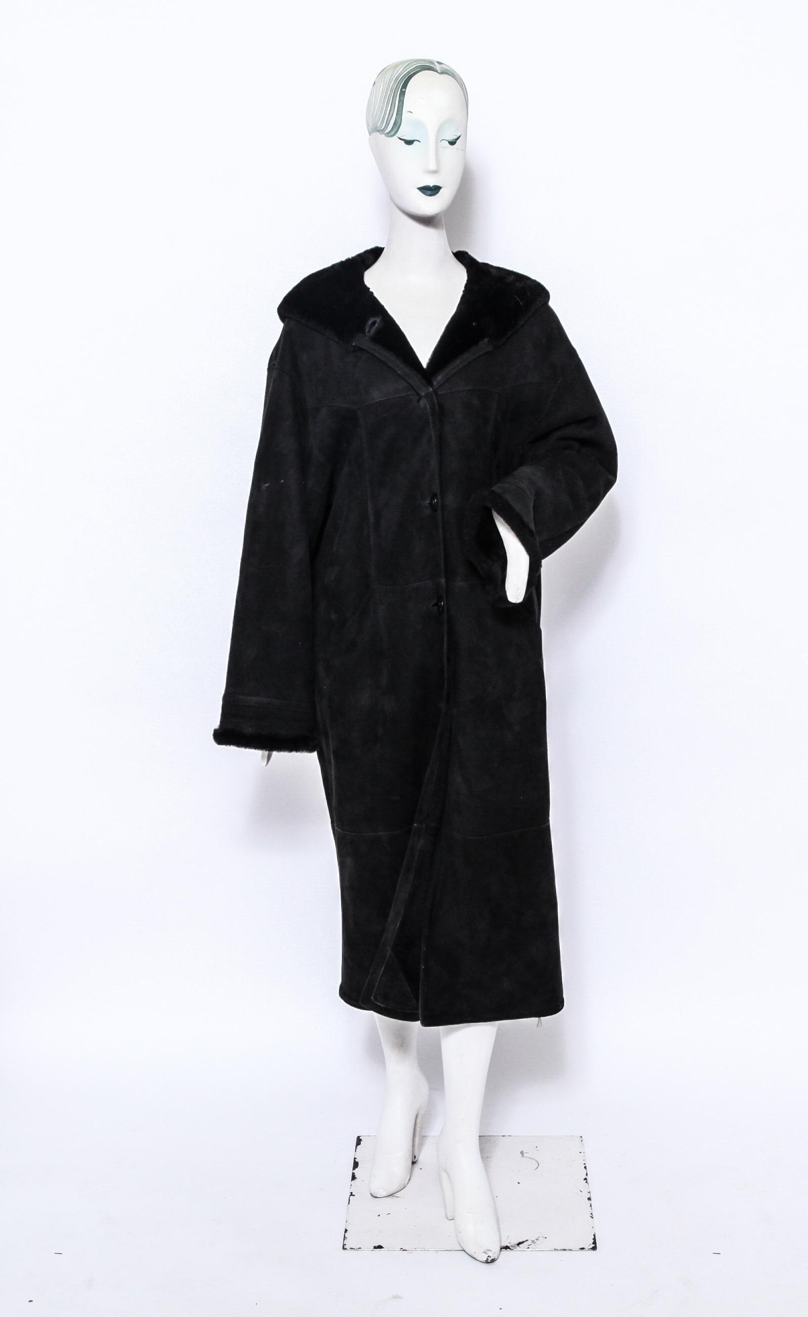 Searle Ladies' Suede & Shearling Coat