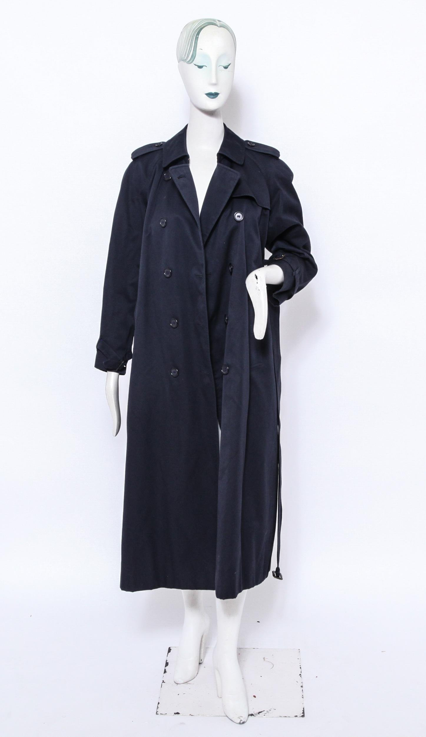 Burberry Prorsum Long Navy Trench Coat