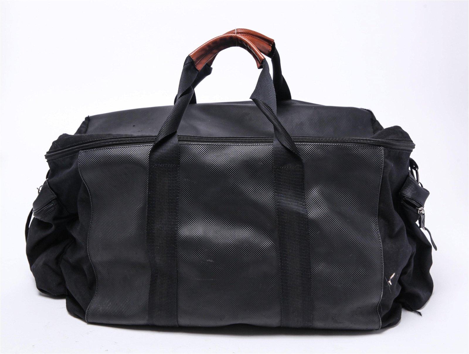 Bottega Veneta Leather & Canvas Travel Bag