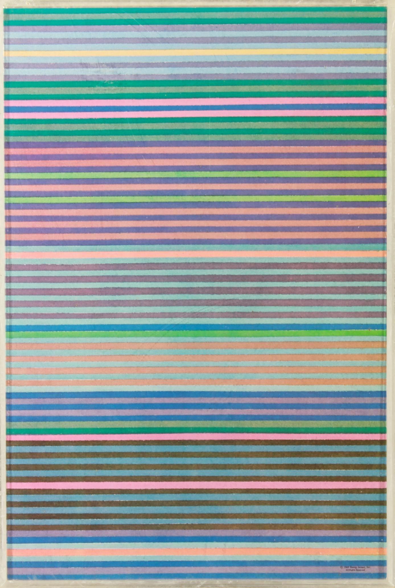 Gene Davis for Georg Jensen Art Puzzle 1969
