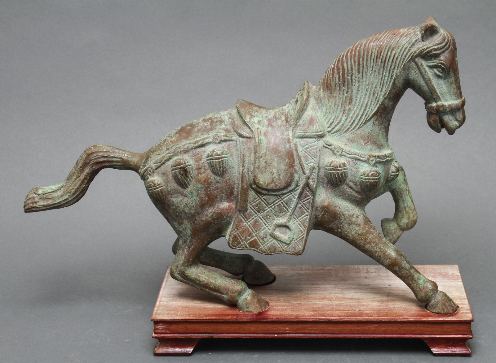Chinese Tang Dynasty Style Bronze Horse Sculpture