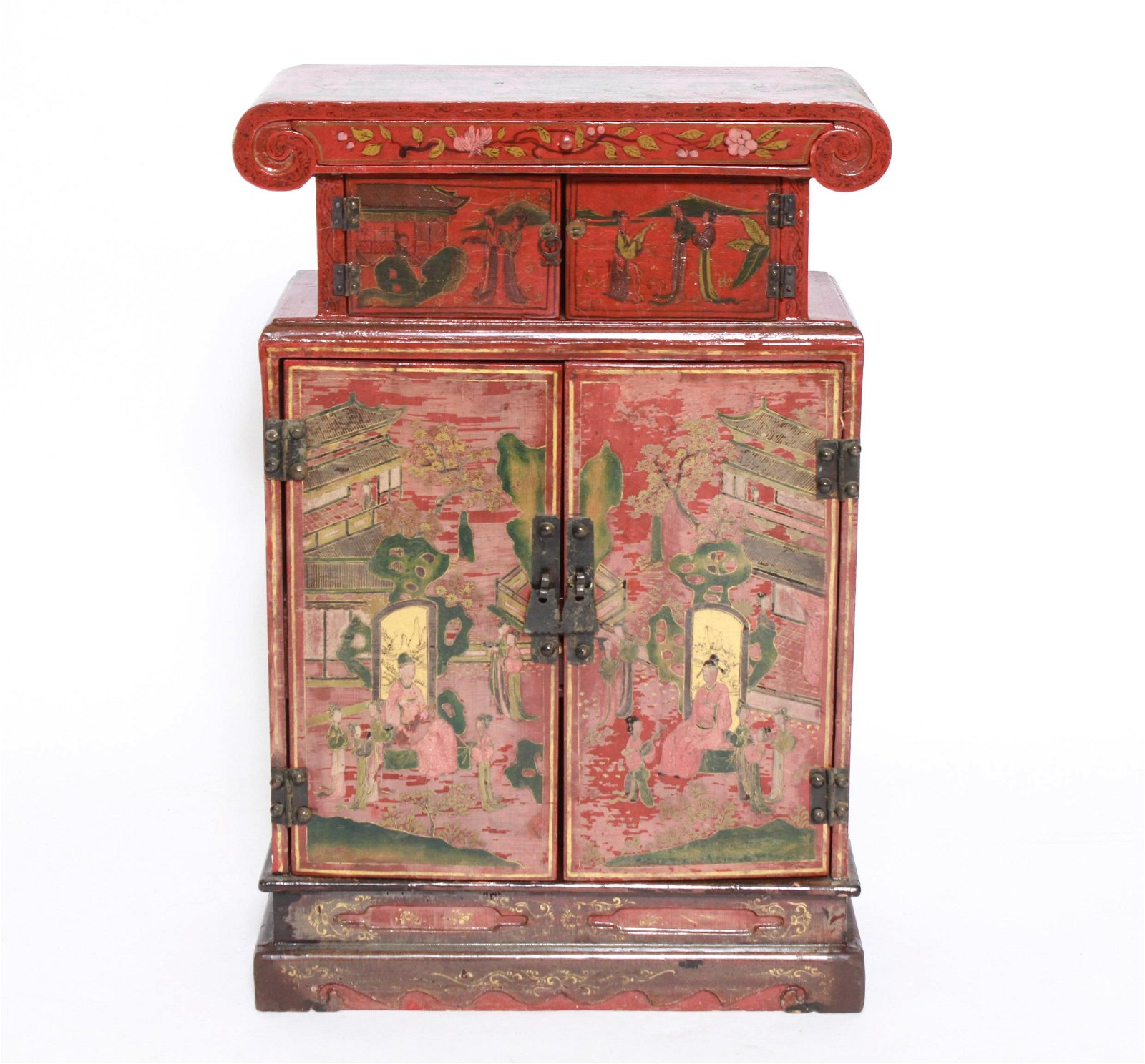 Chinese Painted Diminutive Cabinet