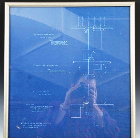 1: Philip Johnson 1948 Blueprint for Wolf House, Newbur