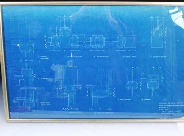 2: Philip Johnson 1948 Blueprint for Wolf House, Newbur