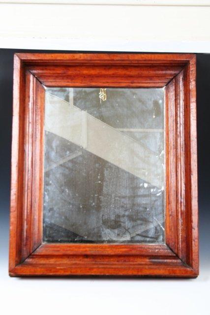 4: 19th/20th C. Provincial Wooden Mirror Oak