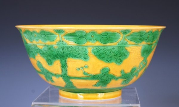 7: 19th c. Chinese Porcelain Bowl, Marked
