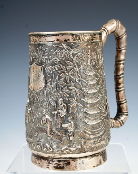 12: Export Chinese Silver Turn of Century Mug