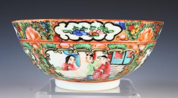 13: Chinese Export 19th c. Rose Madalion Bowl
