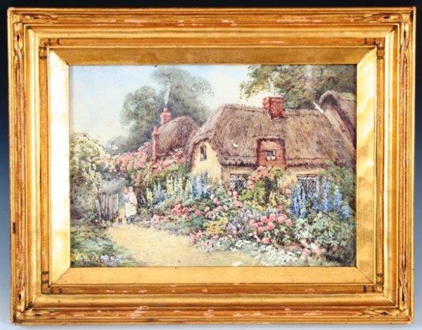 15: Hetty Richards Watercolor 19th c. Framed
