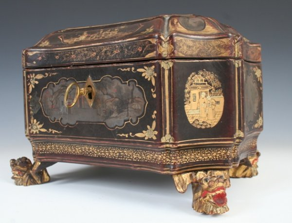 16: Early 20th c. Chinese Export Laquer Box