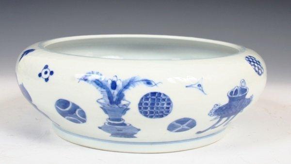 345: Chinese 18/19th c. Porcelain Brush Washer