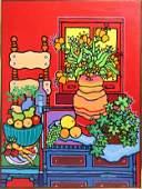"Edward Sokol ""Still Life #10, Orange Poppies"" Oil"