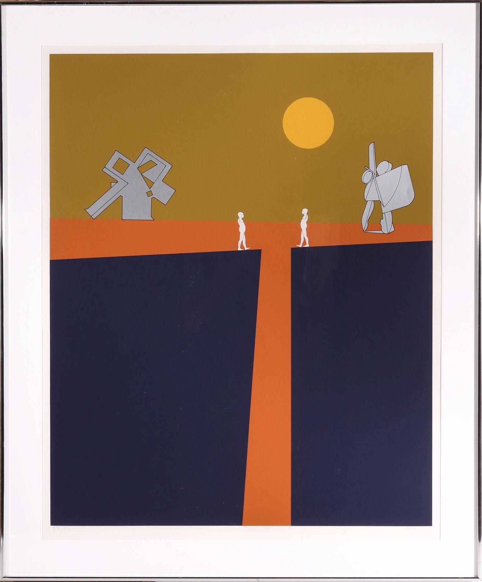 Ernest Trova Falling Man Series Serigraph