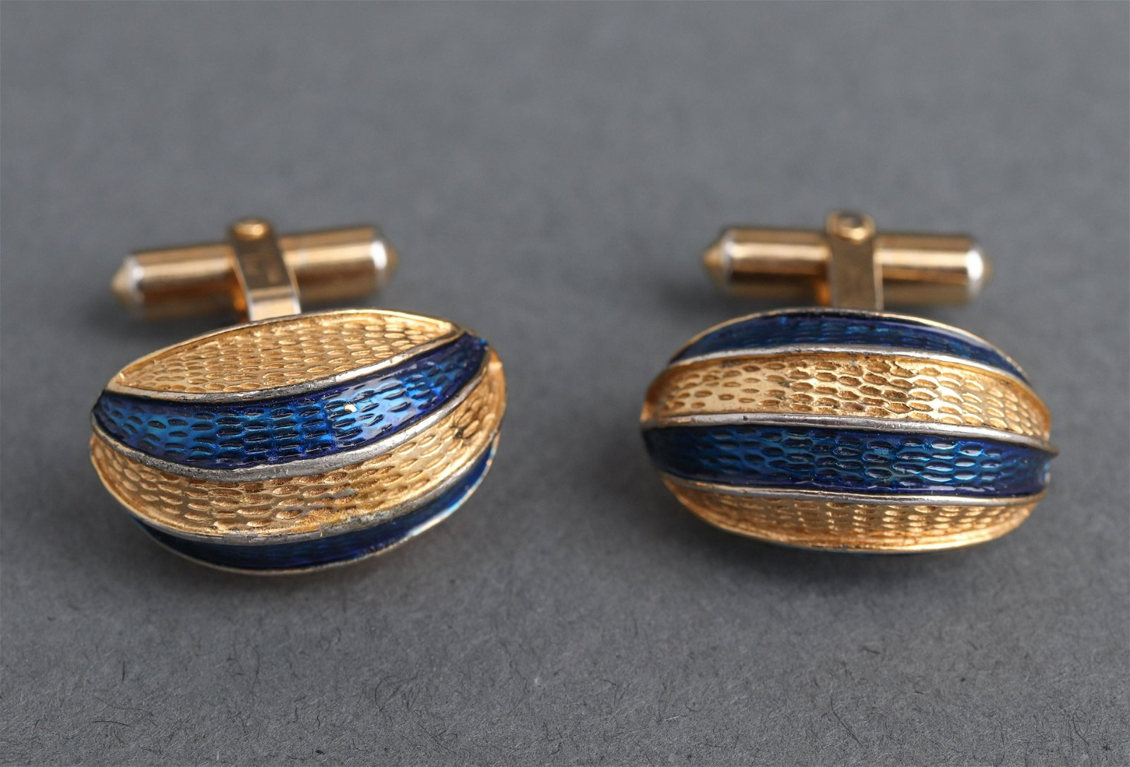 Christian Dior Costume Enamel Cufflinks Pair