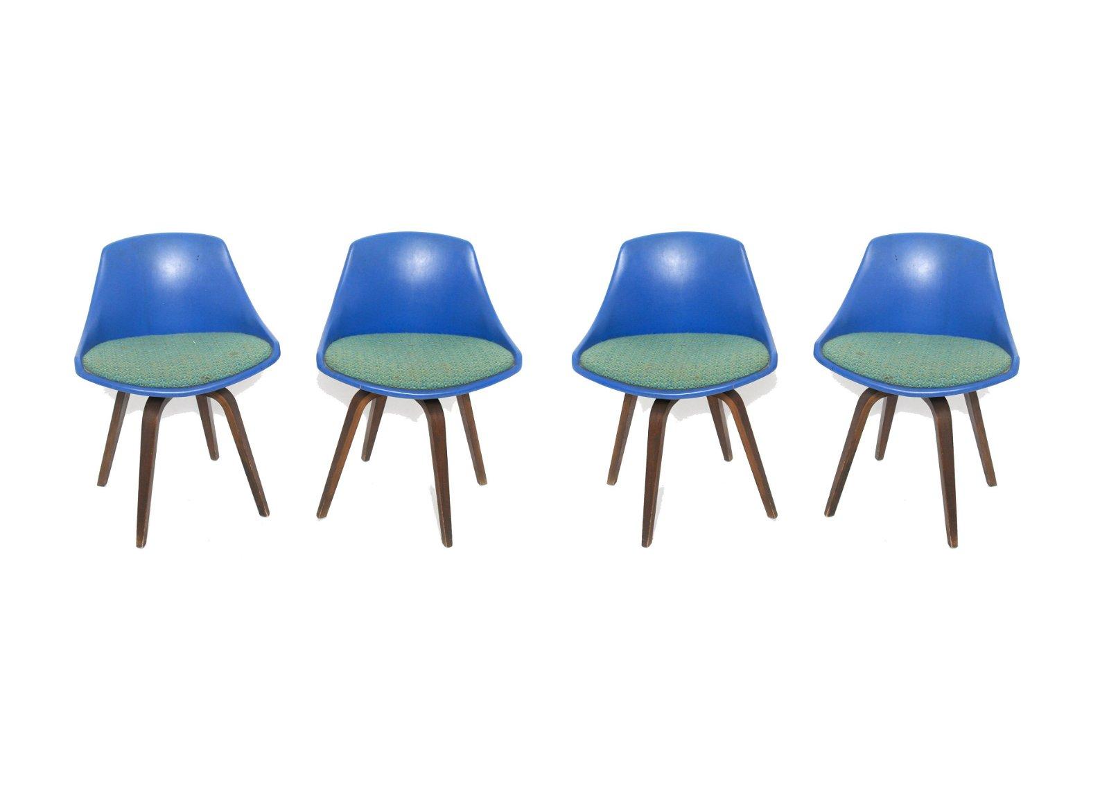 Mid-Century Modern Petit Swivel Chairs, 4