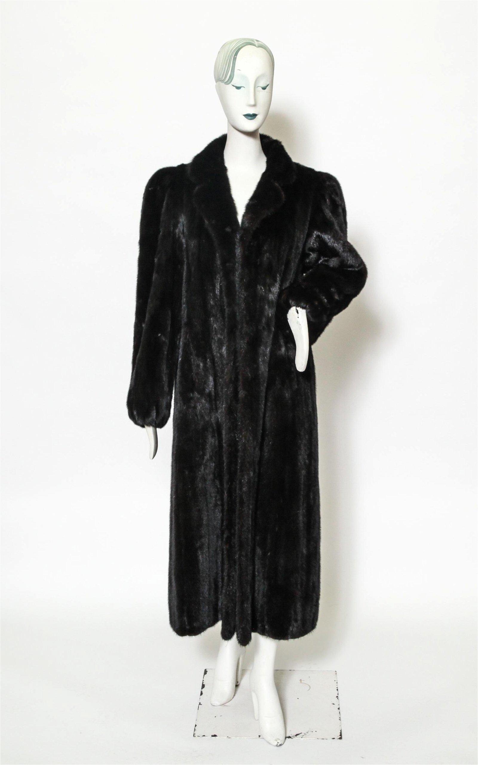 Goldin Feldman Black Sable Fur Coat