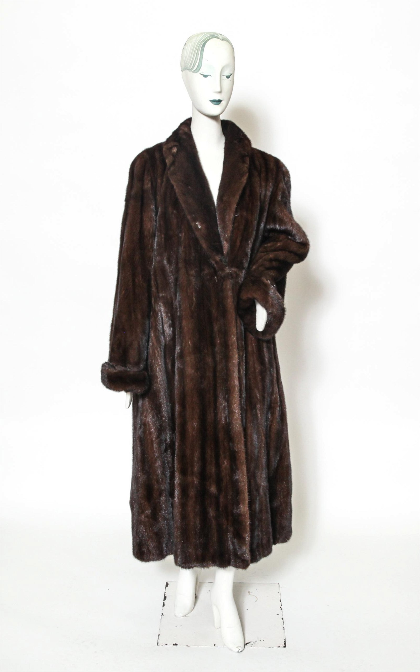 Long Ranch Mink Fur Coat