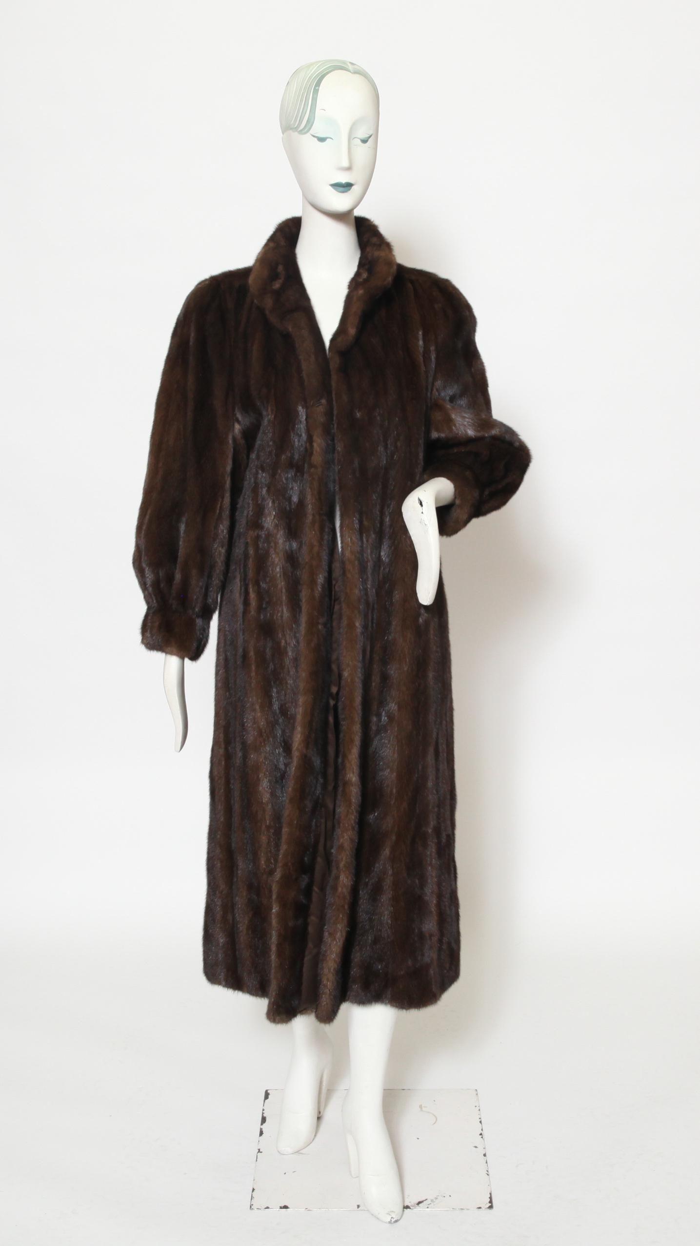 Tom Moriber Designs Brown Mink Fur Coat