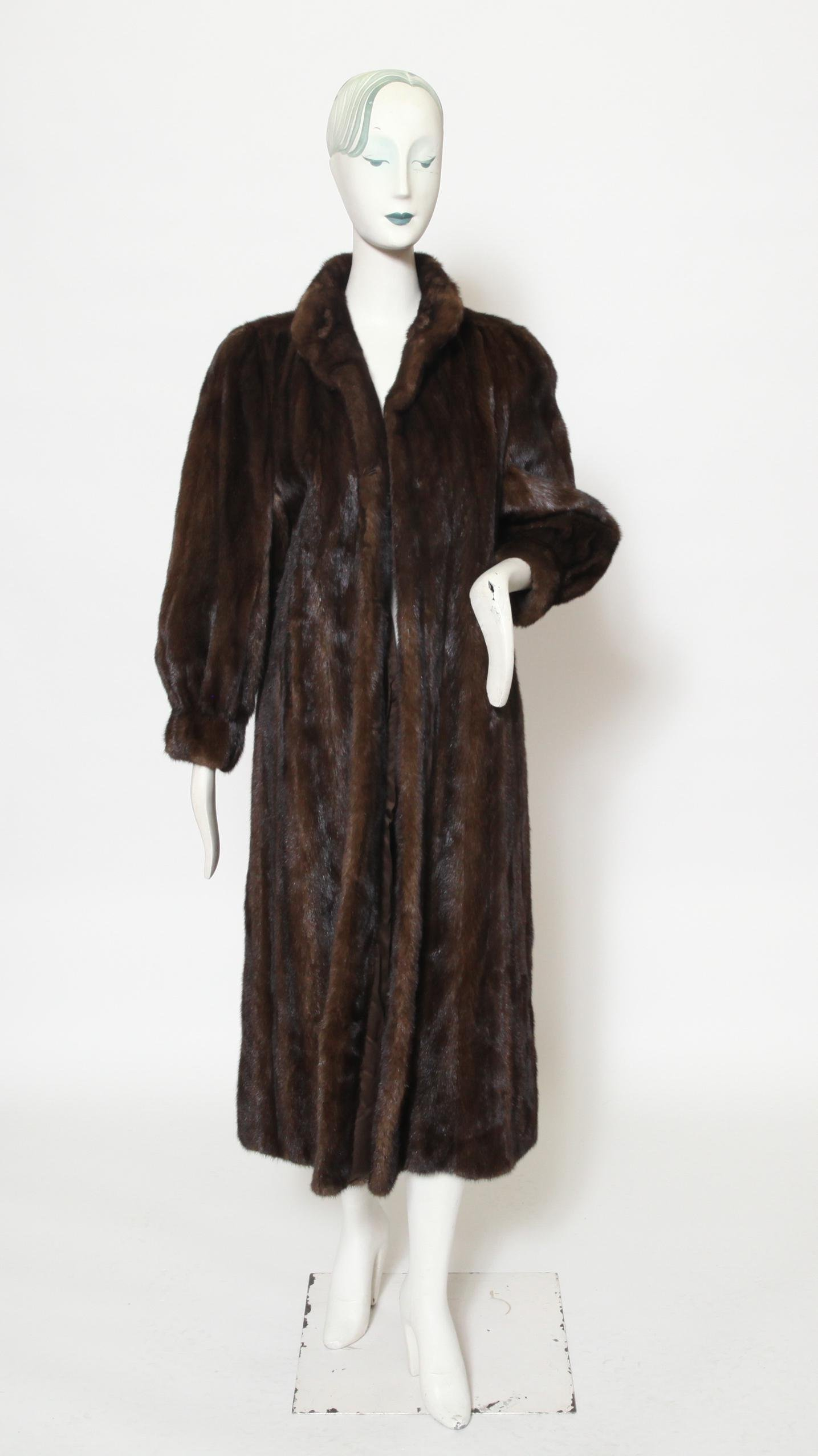 Tom Moriber Designs Brown Mink Fur Coat