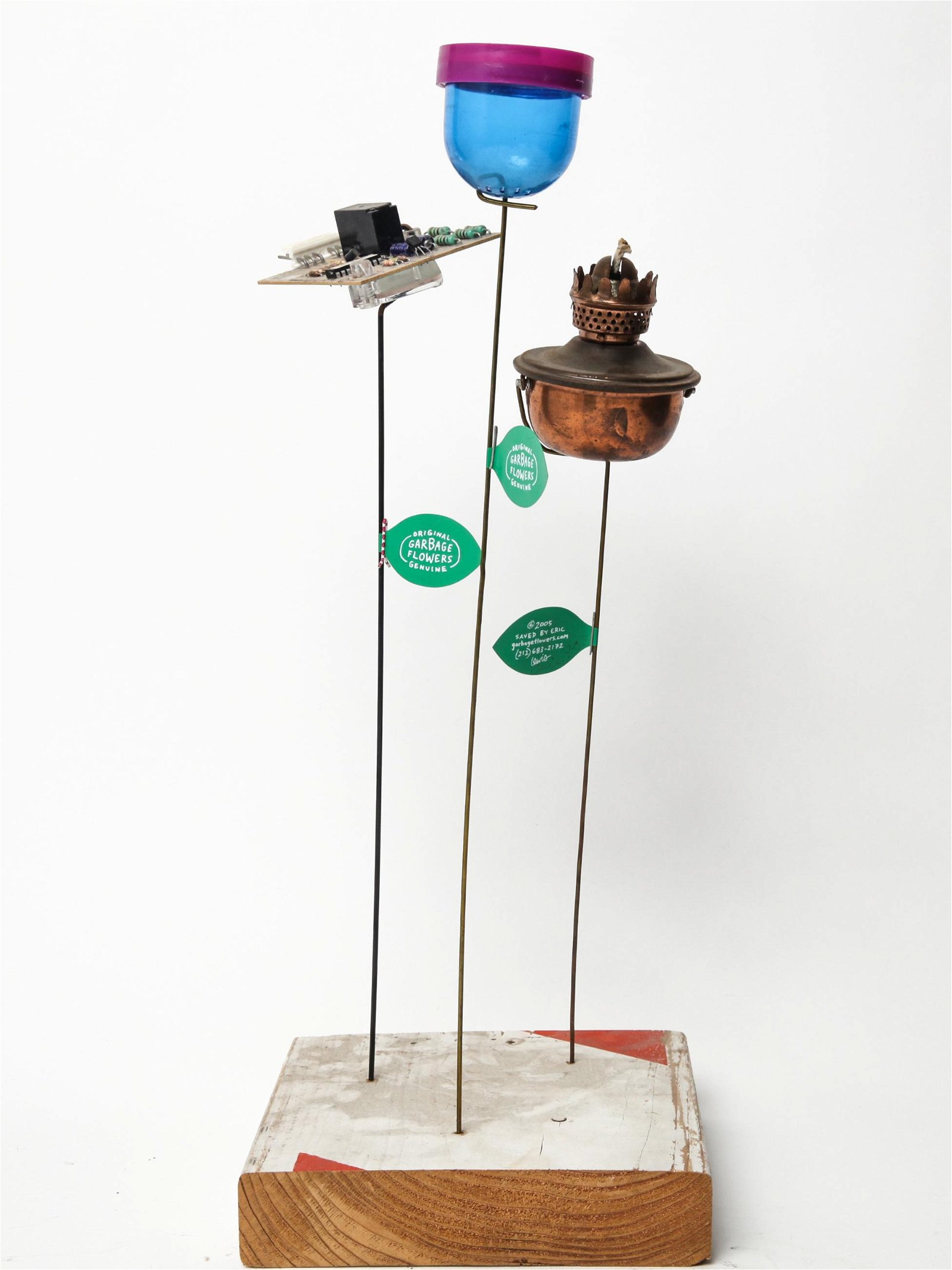 Eric Lewis Original Garbage Flowers Sculpture