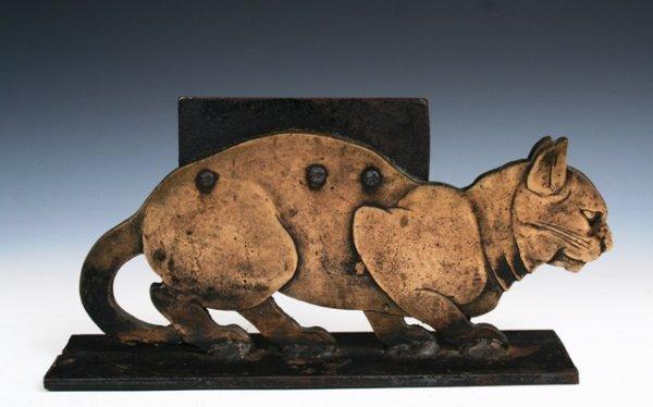 1003: 19th c. Americana Bronze Boot Scrape