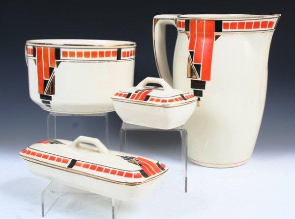 1008: Boch Art Deco 4 Piece Toiletry Set