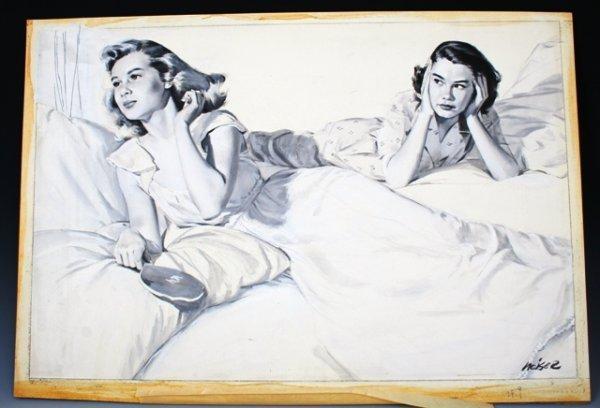 """1011: Weiser Gouache 1949 """"Calling All Girls"""""""