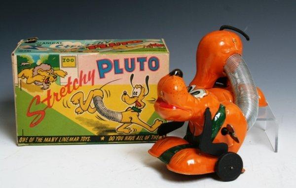 1016: Walt Disney Stretchy Pluto Linemar Toys