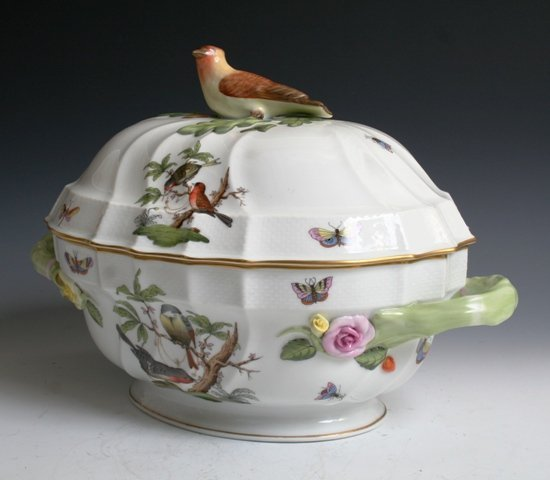 1017: Herend Hand Painted Tureen # 1014/20
