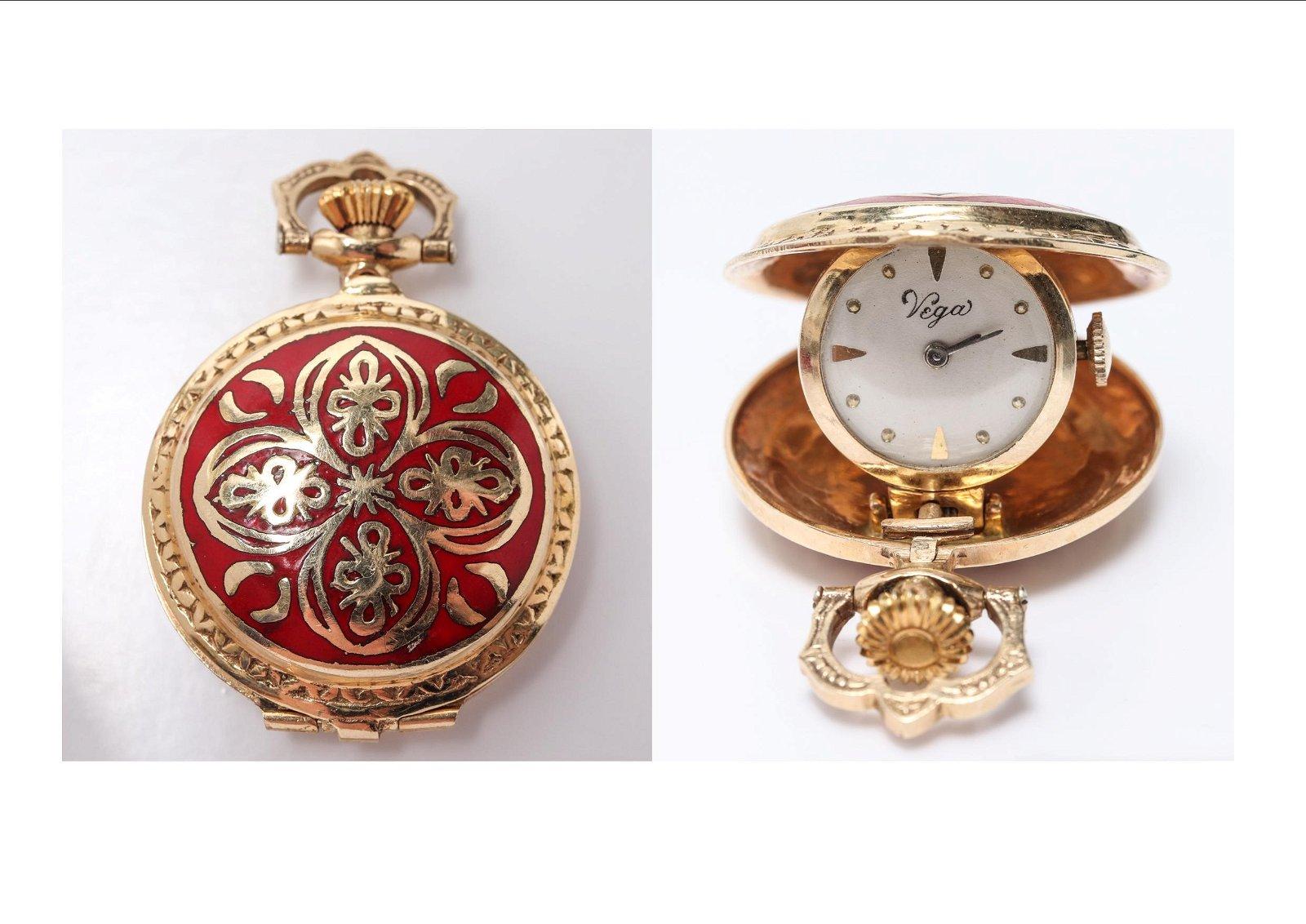 Vintage 14K Yellow Gold Spring Hinge Pocket Watch