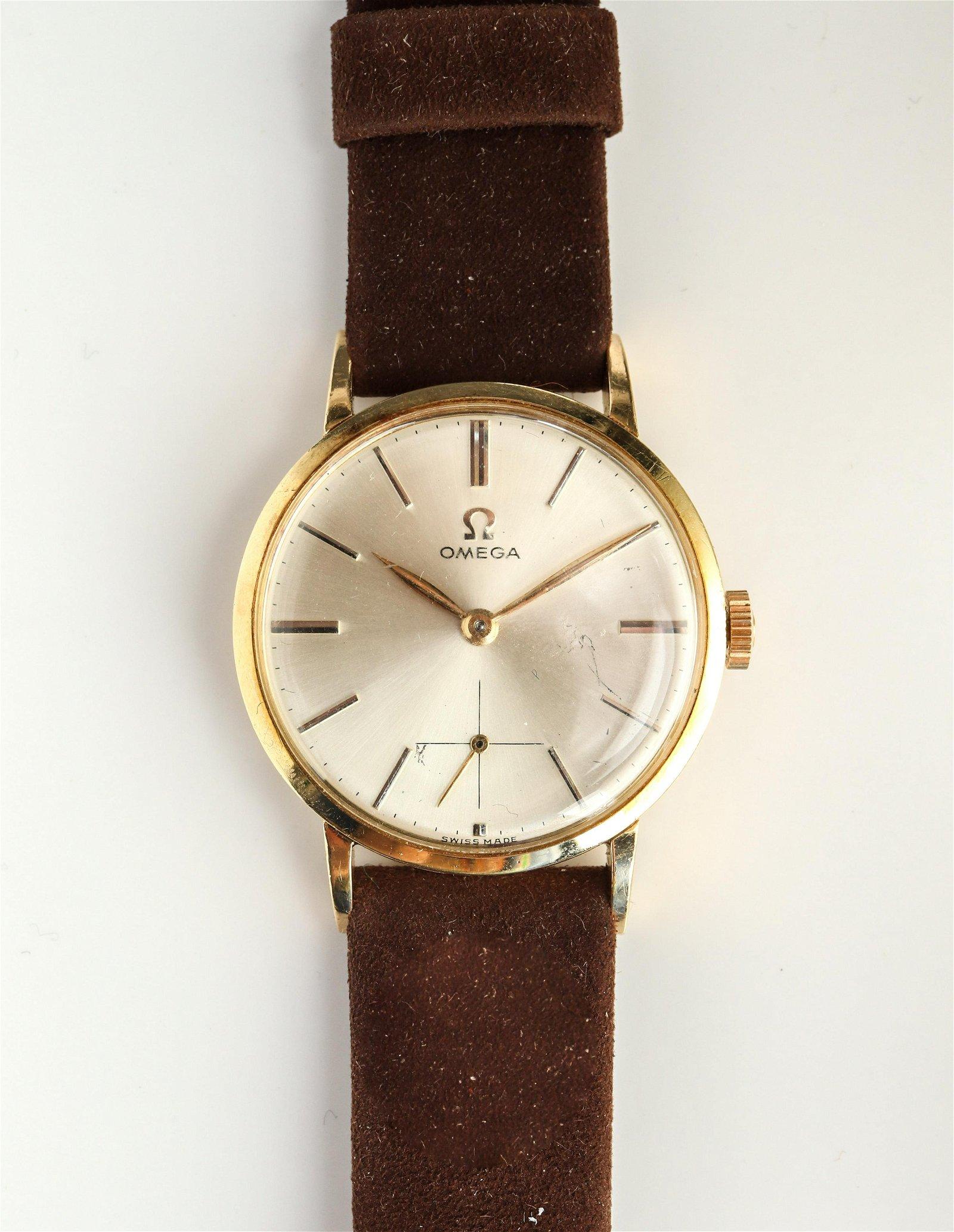 Omega 18K Yellow Gold Gentleman's Wristwatch