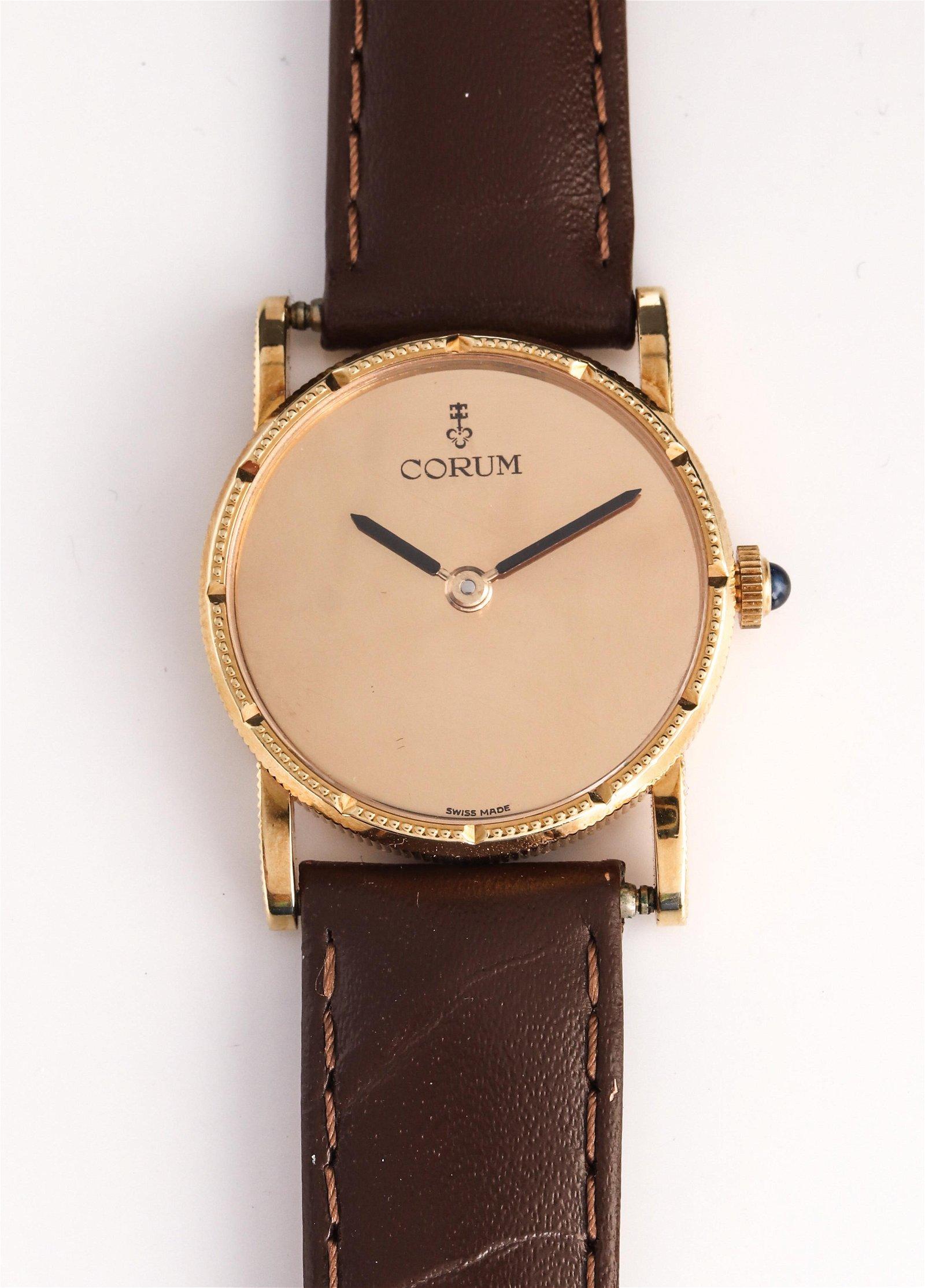 Corum 18K Yellow Gold Mechanical Wristwatch