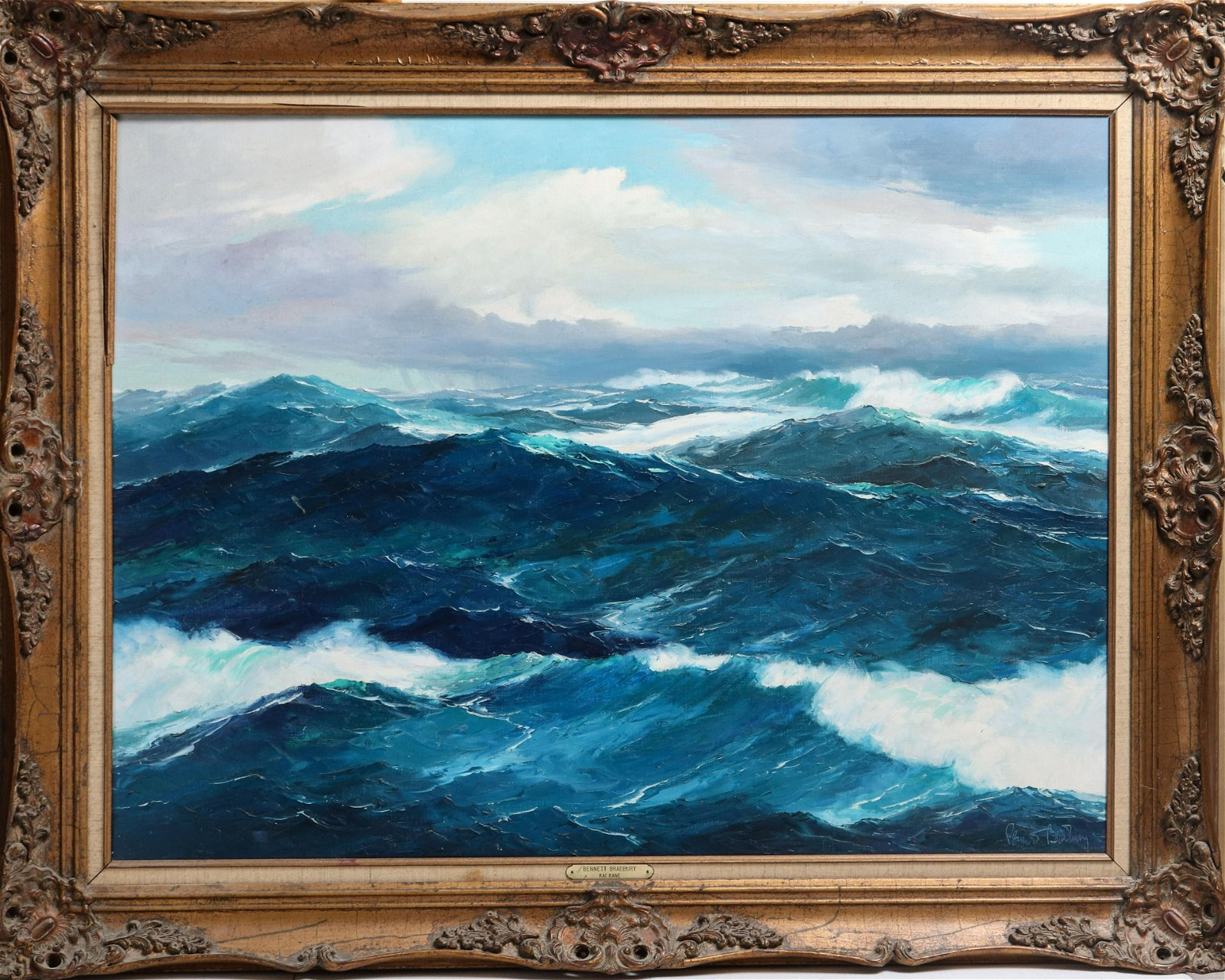 "Bennett Bradbury ""Kai Kane"" Seascape Oil on Canvas"
