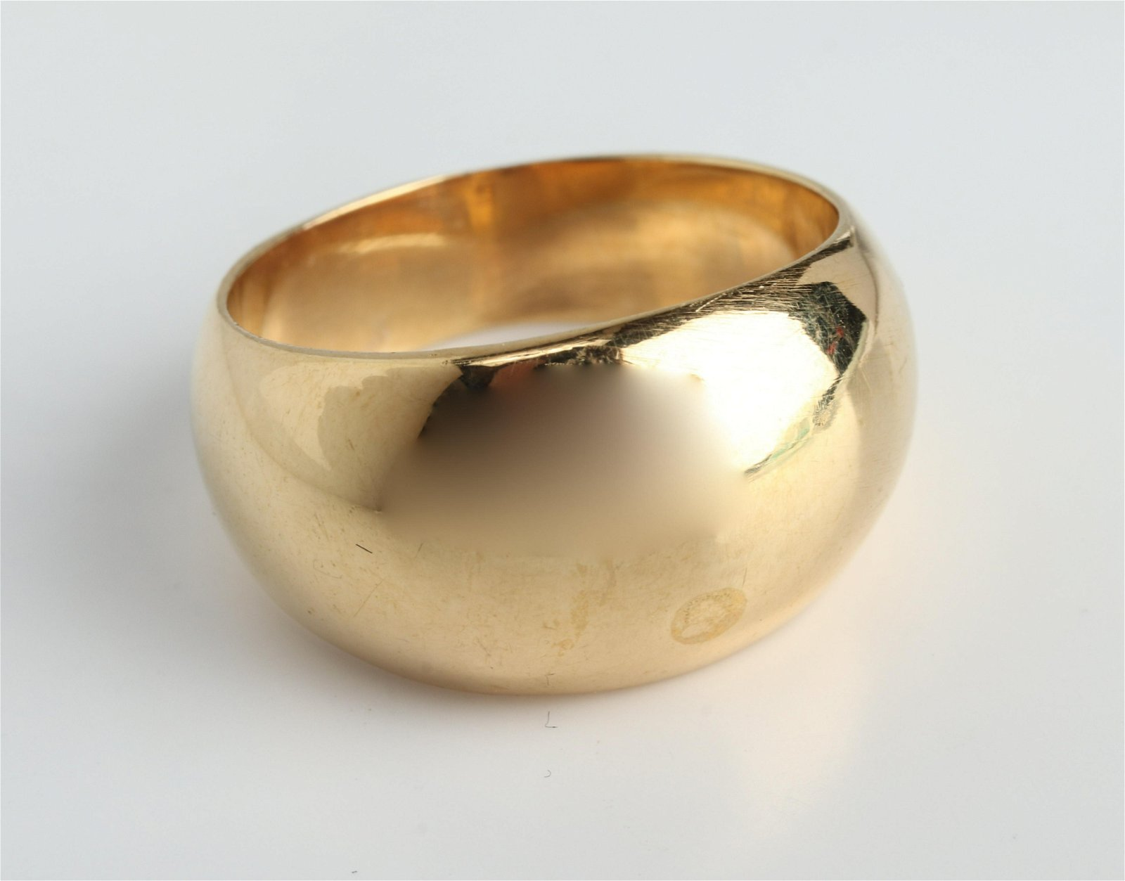 Mid-Century Modern 14K Yellow Gold Dome Ring