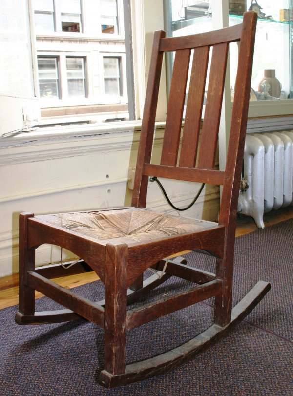 1: Stickly Gustave Oak Lady Rocking Chair