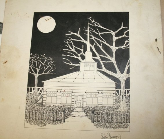 4: Victor Moraly Signed Pen and Ink Drawing