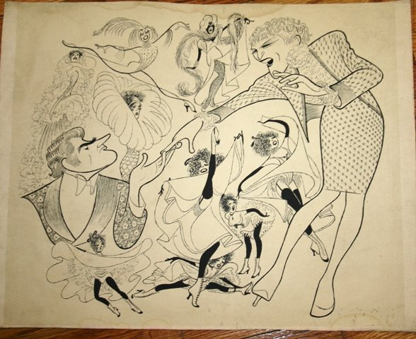 7: Possible Hirschfeld Print of Theater People