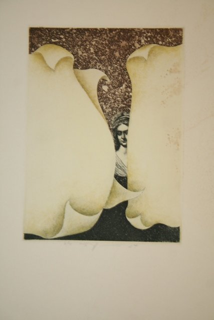 8: Signed Surrealist Etching 1974 # 31/75