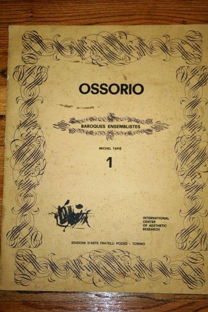 15: Ossorio Baroques Ensembliste Catalog
