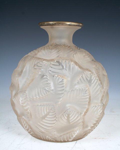 18: R. Lalique Glass Vase