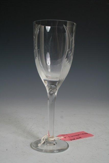 19: Set of 6 Lalique Wine Glasses