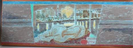 92B Jeffrey Camp Oil on Board signed 1983 English