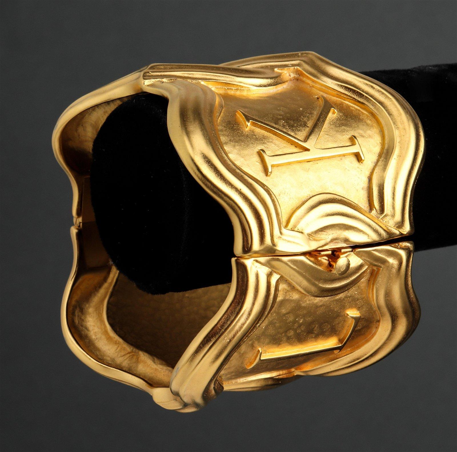 Karl Lagerfeld Runway Hinged Cuff Bracelet