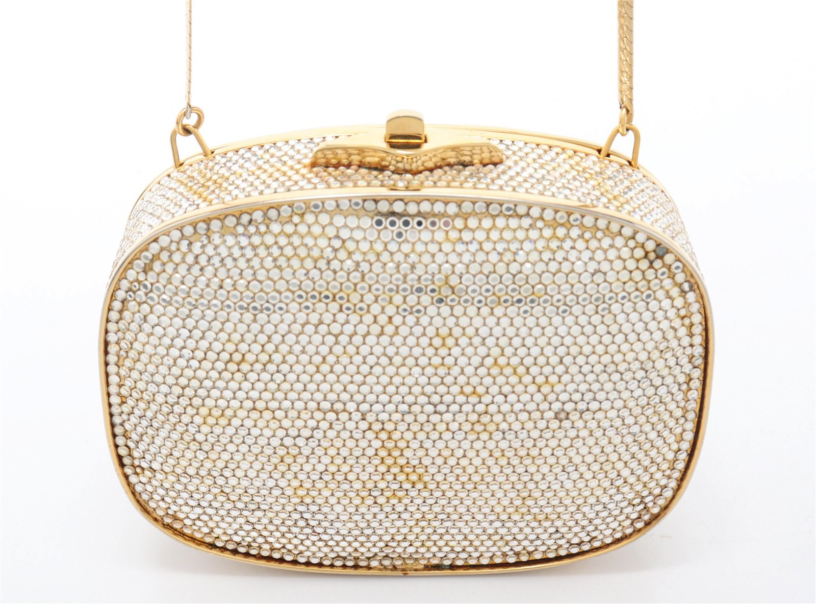Judith Leiber Rhinestone Minaudiere Evening Bag