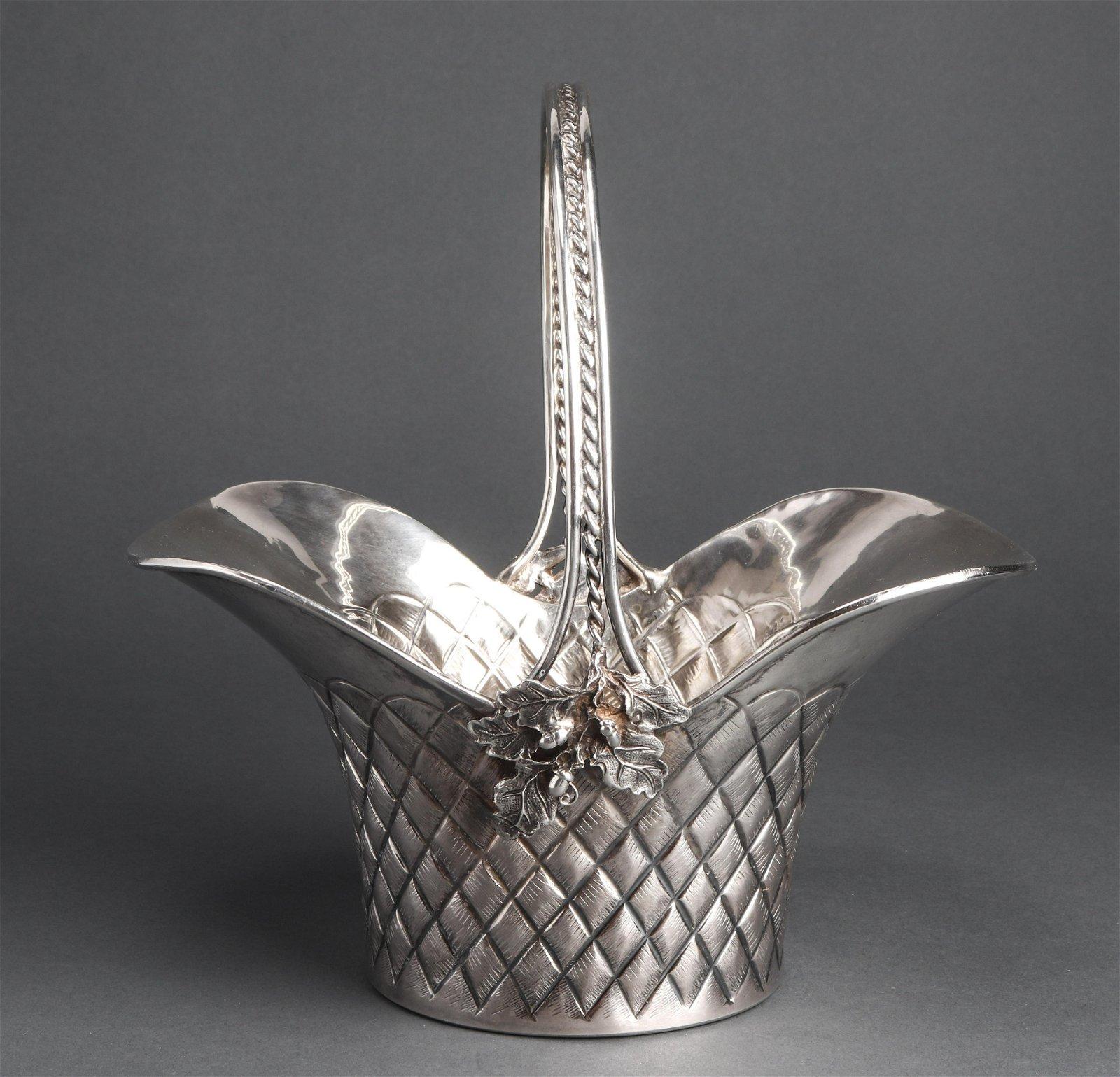 Melda Turkish Sterling Silver Table Basket