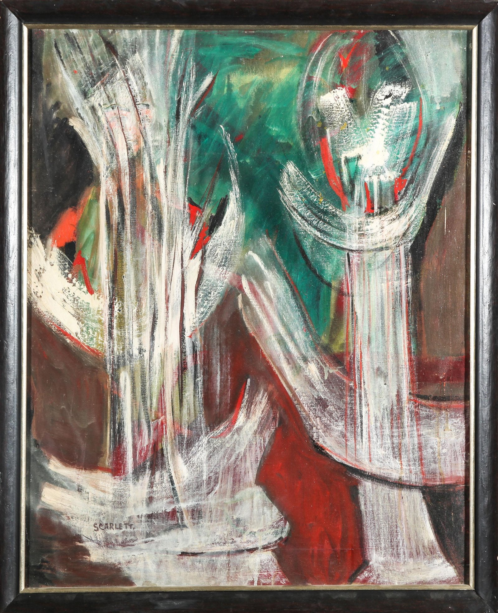 Rolph Scarlett Modern Abstract Oil on Canvas