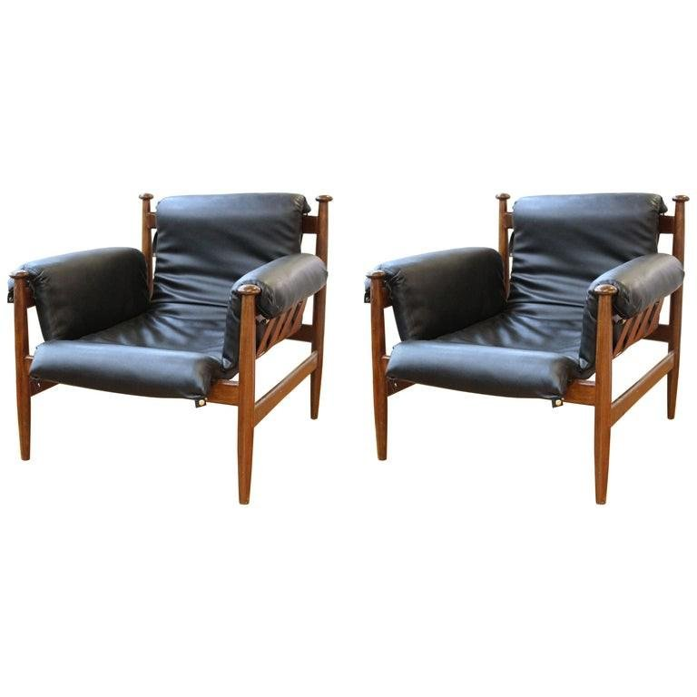 Percival Style Chairs w Leather Upholstery, Pr