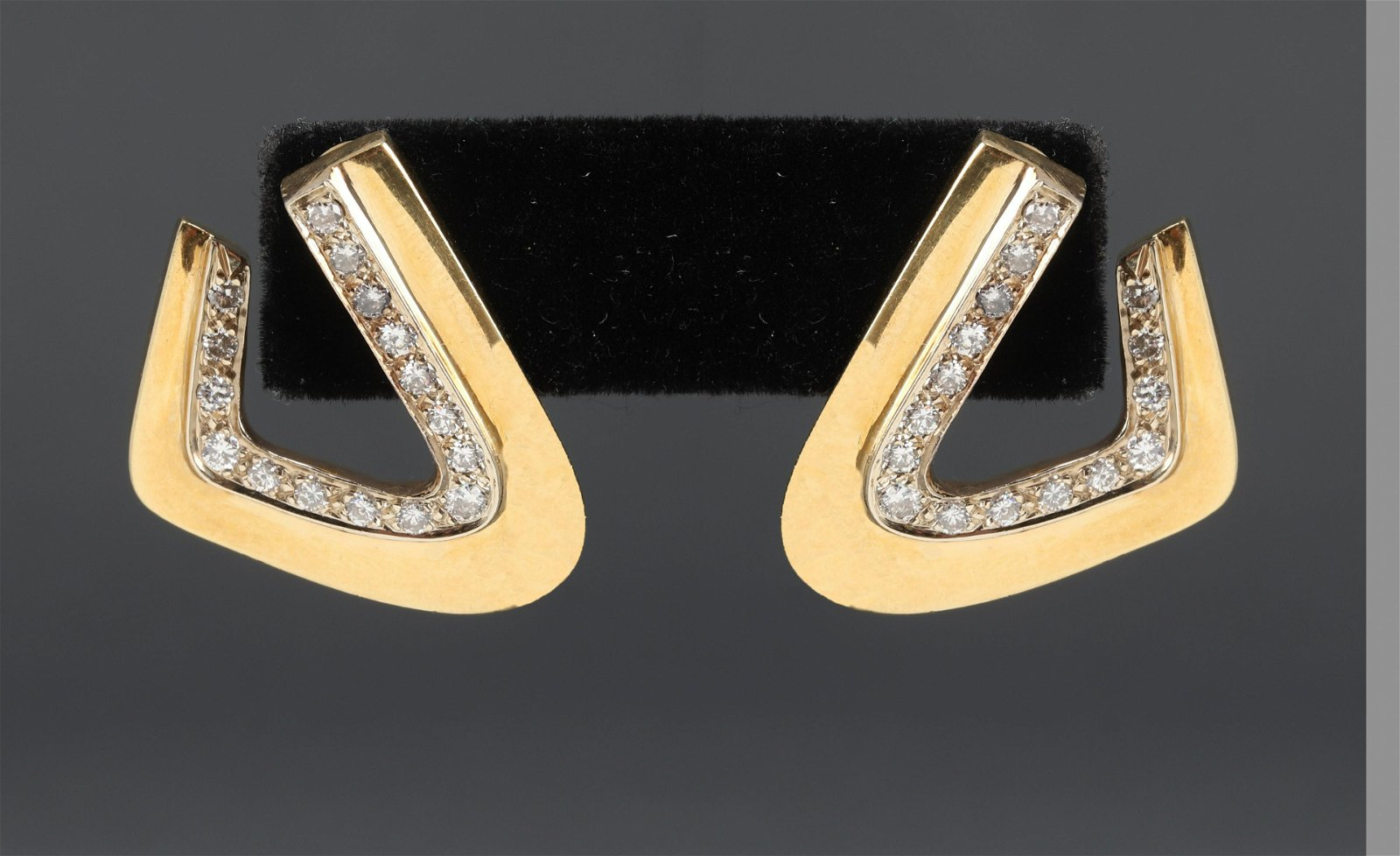 18K Yellow Gold & Diamond Earrings