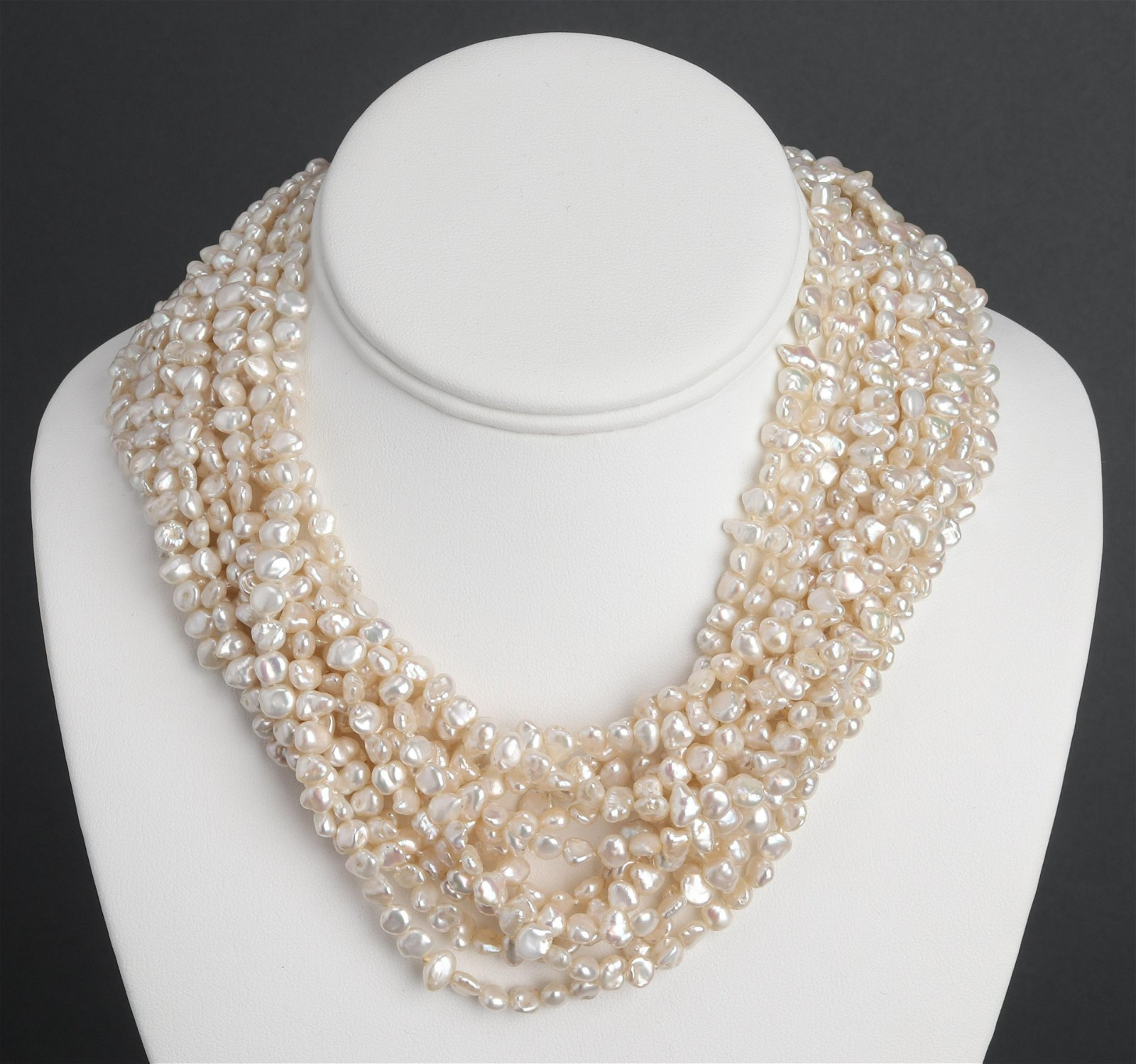 18K Yellow Gold Diamond & Pearl Necklace
